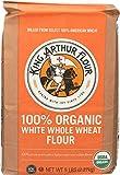 King Arthur, Flour White Whole Wheat Organic, 80 Ounce
