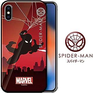 [MARVEL Heroic Silhouette Glass Bumper マーベル アベンジャーズ グラス バンパーケース] スマホケース  iPhoneXs max iPhoneXR