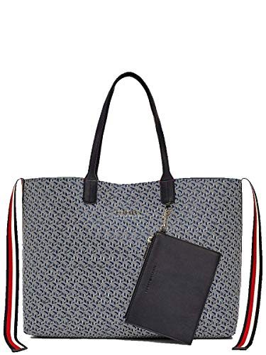 Tommy Hilfiger Iconic Tommy Tote Monogram Blue Ink