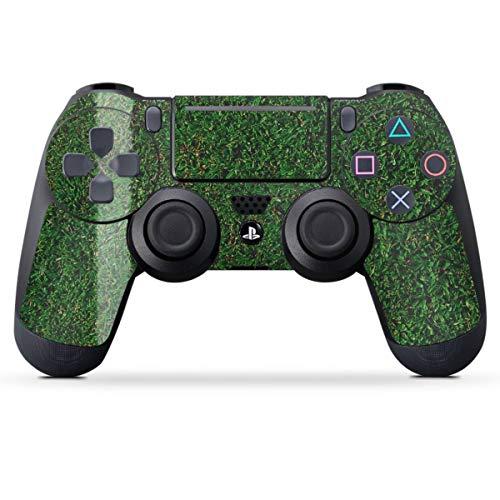DeinDesign Skin kompatibel mit Sony Playstation 4 PS4 Pro Controller Folie Sticker Kreisliga Fußball Rasen
