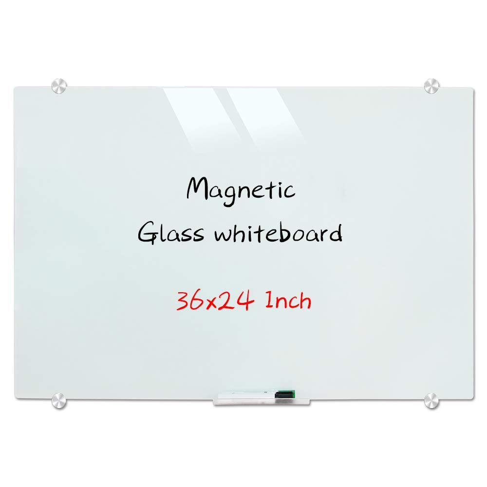 Magnetic Glass Whiteboard Wall Mounted Glass Dry Erase White Board Frosted White Surface Frameless Glass Board With 4 Buy Online In Zimbabwe At Desertcart Co Zw Productid 169671345