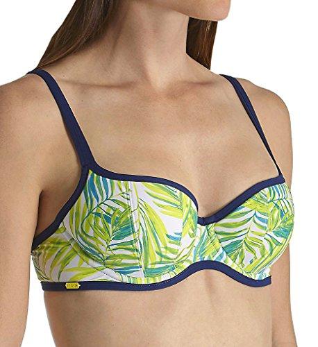 Cleo by Panache Avril Balconette Bikini Top, 34DD, Palm Print