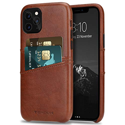 TENDLIN Funda iPhone 11 Pro Carcasa Cartera Cuero