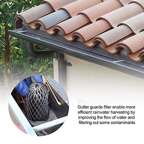 didatecar - 4 Tapas de protección para tuberías bajantes, Malla de protección de follaje de 3 Pulgadas, Filtro de Aluminio Que Detiene la obstrucción de Hojas y Malla de Suciedad