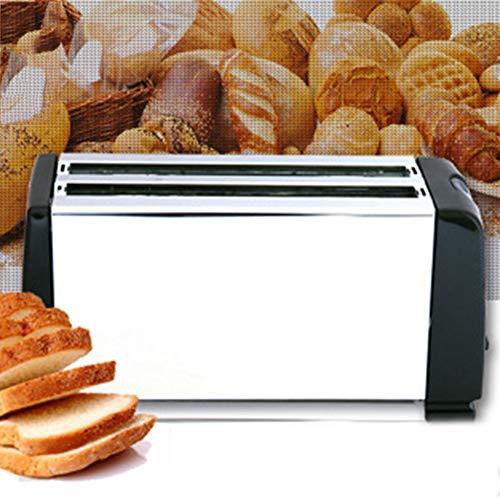 SMCOOL 4 Slice Toaster in Acciaio Inossidabile Tostapane Extra Largo Lunghi dello Slot con 6...