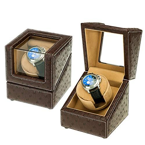 Oksmsa Lujo Soltero Automático Cajas Giratorias para Relojes 5 Modo de Roaming, Antimagnético Bobinadora para Relojes, Mudo Motor, Acrílico Vaso, Juego para Todas Relojes (Color : A)