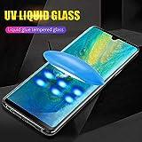 [3 tabletas]para LG V50 V40 V30 Full Glue Glass Protector de Pantalla UV Liquid Full Adhesive para LG V30 G7 G8 Sony XZ4 XZ3 Glass Film para LG V30
