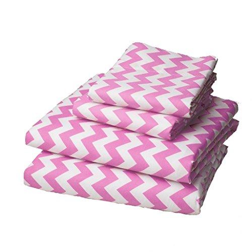 For Sale! bkb Chevron Round Crib Bedding, Pink