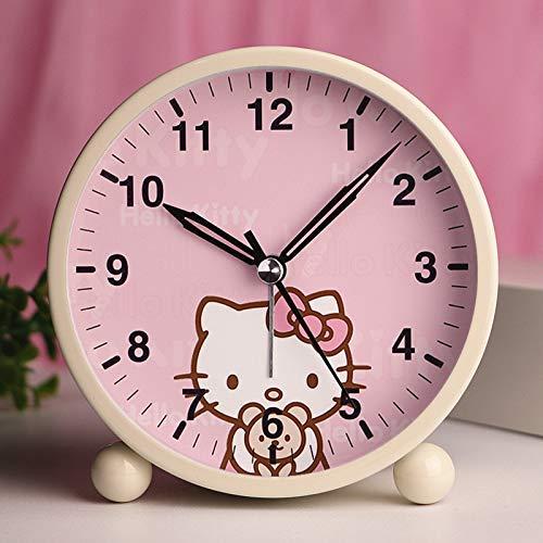 Student Cartoon Mute Kleine Leuke wekker Slaapkamer van jonge geitjes en Studie Bedside kleine schattige Alarm Clock