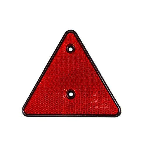 Catadioptre triangulaire DKB - Rouge - Pour remorque - Arrière gauche et droite