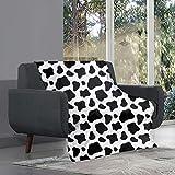 chaqlin Manta de vaca de 203 x 152 cm, suave, cálida, cómoda, de forro polar, para cama, cama, sofá, viajes, niños