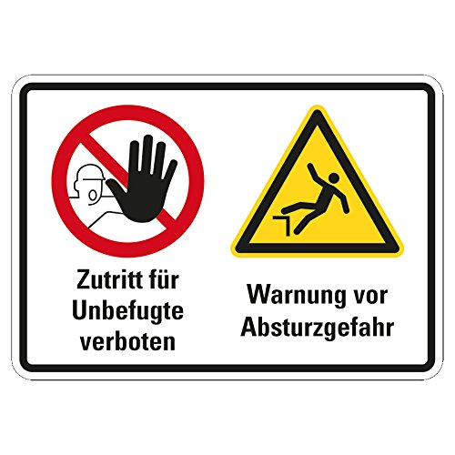 LEMAX® Hinweisschild Zutritt verboten, Absturzgefahr, Kunststoff, 420x297mm
