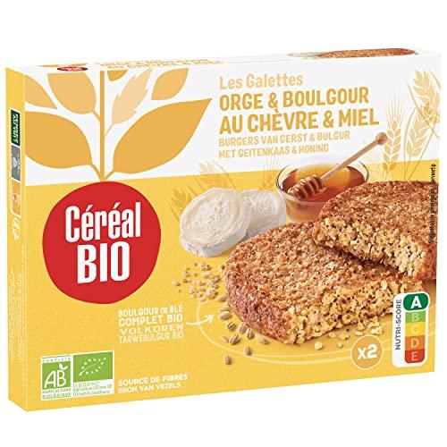 Céréal Bio Galettes Orge & Boulgour au Chèvre & Miel - Végétarien et Bio - Simple et Rapide à Réchauffer - 200g (2 x 100g) - 200726