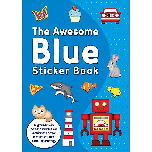 The Awesome Bleu Garçons Cahier D'Autocollants & Stickers Fête Célébration Ensemble D'Activité Enfants