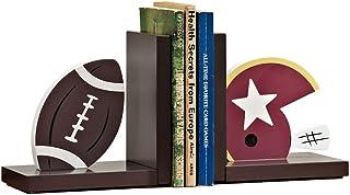 الدفاتر الزخرفية للرجبي البيسبول نهاية كتاب الأطفال الخشب كتاب ينتهي للرفوف منضدية ديكور