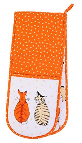 Ulster Weavers Katten in Wachten Dubbele Oven Handschoen, Multi-Kleur