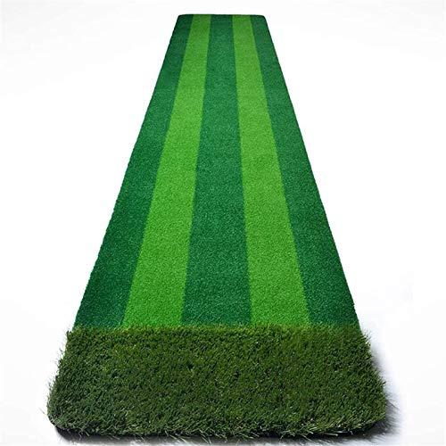 Alfombra De Entrenamiento De Golf Antideslizante Golf golpeando la estera del lanzamiento de la estera de la pista del golf con la placa de bolas múltiples fairway 58x300cm  Mini colchoneta portátil