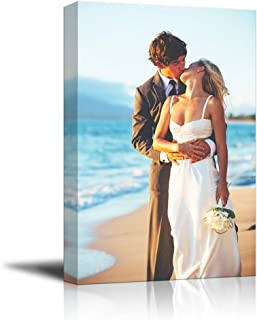 SIGNFORD Custom Canvas Prints, Creative Couple Gifts Personalized Poster Wall Art with Your Photos Wood Frame Digitally Printed - 36