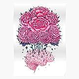 Colorful Peony Flower Colors Flowers Nature Brain Peonies El póster de decoración de interiores más impresionante y elegante disponible en tendencia ahora