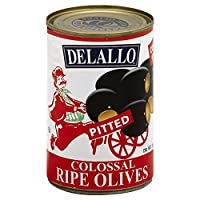 DeLallo Olives Pitted Colossal 575 OZ (Pack of 6)