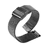 YANYAN Ring Store Correa de Reloj de Moda 22 mm 20 mm Pulsera de Acero Inoxidable Reloj de Pulsera Ajuste para Samsung Galaxy 42mm 46mm Fit para Huawei Watch para Amazfit BIP