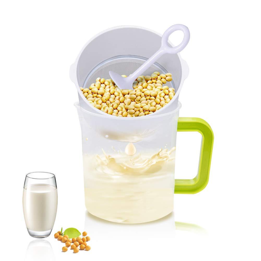 2019 Novel - Filtro de leche para zumo de frutas y nueces, filtro de leche para soja y frijoles, acero inoxidable, reutilizable, filtro de malla fina para filtrar zumo y leche: Amazon.es: