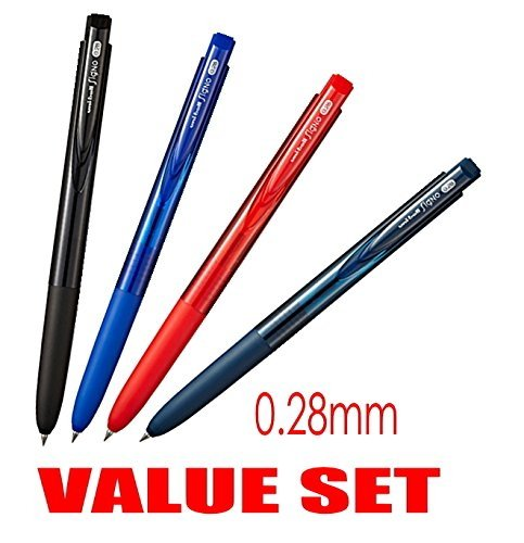 Very smooth, although it is a micro point-Uni-ball Signo RT1 Rubber Grip & Click Retractable Ultra Micro & Extra Fine Point Gel Pens -0.28mm-black,Blue,Red,Blue Black Ink-Each 1 Pen- value Set of 4