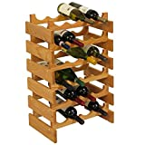Wooden Mallet 24 Bottle Dakota Wine Rack, Light Oak