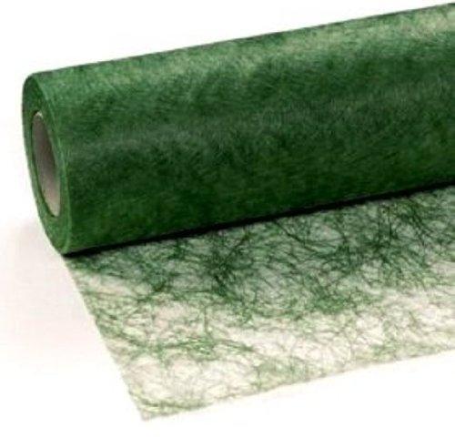 Unbekannt 25 m x 30 cm Sizoflor® Vlies Original Tischband Tischläufer dunkelgrün grün für Hochzeit, Weihnachten