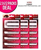 Kiss i-ENVY Premium Natural/Human Hair Vegas Strip Eyelashes (12 PACK, KEP07S)
