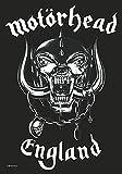 Motörhead England Unisex Flagge schwarz/weiß 100% Polyester 75 x 110 cm Band-Merch, Bands