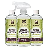 Grab Green Natural Power Degreaser, Biodegradable, Residue & Streak-Free Finish Thyme with Fig Leaf 16 Ounce Bottle (3-Pack)