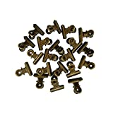 Sunny W Metal Bulldog Clips, 1.25 Inches, Pack of 20 (Bronze)