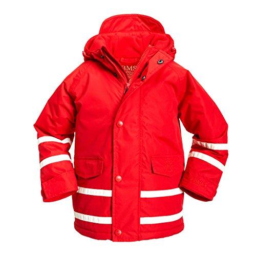 BMS atmungsaktive Kinder Winterjacke (Größe = 110, Farbe = ROT)