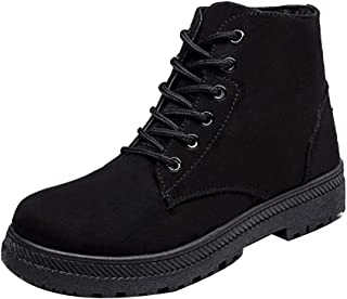 Aiweijia Ladies High-Top Retro Canvas Thicken Rubber Sole Keep Warm Shoes
