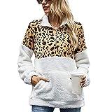 Saco De Dormir Bebe Otoño E Invierno Nuevas Mujeres Estampado De Leopardo Costura Cobertura Tie-Dye Felpa Chaqueta Suelta-Leopardo_Metro