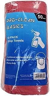 Pro-Clean Basics A21816 Reusable Cotton Shop Towels, 100% Cotton, 12