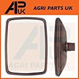 APUK Universal Wing Mirror Head & Glass 11.5 x 8.5 Tractor Digger Lorry Truck Plant