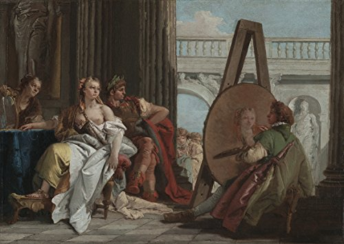 Giovanni Battista Tiepolo: Alexander the Great and Campaspe in the Studio of Apelles. Fine Art Print/Poster (29.7cm x 21cm)