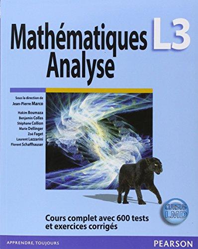 Mathématiques Analyse L3