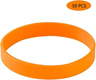 Silicone Bracelets Blank Rubber Wristbands,50pcs/Pack Party Accessories