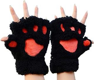 con artiglio di gatto guanti invernali Leikance Guanti da gatto morbidi e caldi senza dita