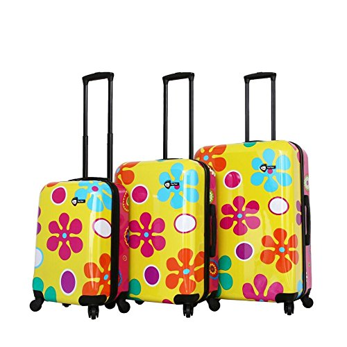 Review Of Mia Toro Pop Fiore Hardside Spinner Luggage 3pc Set-Yellow, Gallio, One Size