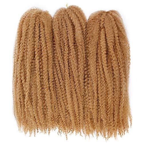 GX Beauty Marley Braiding Hair 3Pcs/ Lot Afro Kinkys Twist Hair 18Inch Kanekalon Synthetic Soft Twist Braids Hair Extensions for Black Women (#27)