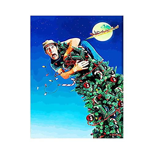 QQWER Ernest Saves Christmas Poster Wall Art Posters and Prints Canvas Printed Painting Pictures Home Decor-50X70Cmx1Pcs -No Frame