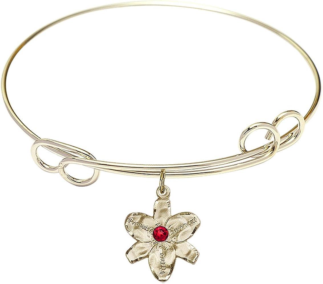 DiamondJewelryNY Double Loop Philadelphia Mall Bangle Bracelet a with Cha Chastity Indefinitely