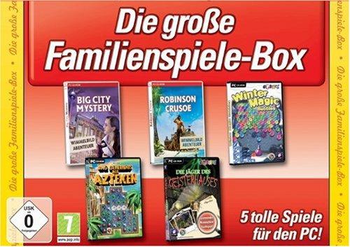 Die große Familienspiele-Box (Big City Mystery / Robinson Crusoe / Winter Magic Bubbles / Das Geheimnis der Azteken / Die Jäger des Geisterhauses)