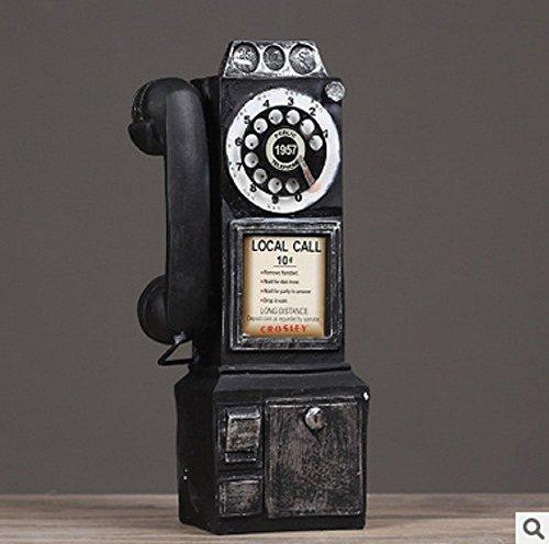 Sulin Bar Retro Vintage Wall Telephone Home Decoration 3 Colores 13 * 8 * 30Cm 1Pcs,Natural