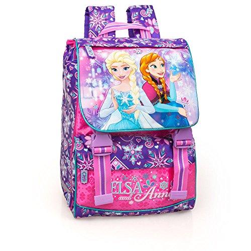 Disney Frozen 59112 Zaino da Scuola, Estensibile, Poliestere, Multicolore