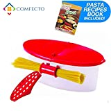 Microwave Pasta Cooker with Strainer, Food Grade Heat Resistant Pasta Boat Vegetable Steamer Sp…